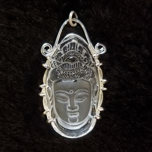 Crystal Quartz Buddha pendant